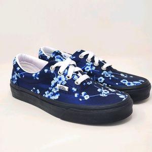 Vans Classic Blue Floral Lace-up Sneakers